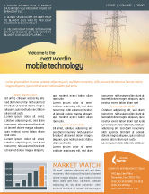 Utilities/Industrial: Power Line Newsletter Template #01638