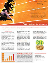 Business Concepts: Office Race Newsletter Template #01651