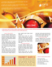 Holiday/Special Occasion: New Year Decorations Newsletter Template #01715