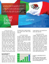 Flags/International: Mexican Flag Newsletter Template #01716  Newsletter Templates Free For Word