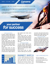 Military: Fighter Aircraft Newsletter Template #01747