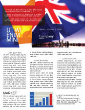 Flags/International: Australian Flag Newsletter Template #01774