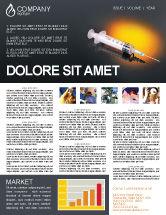 Medical: Shot Newsletter Template #01775