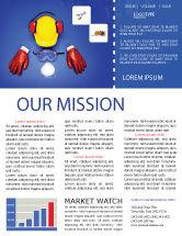 Utilities/Industrial: Professionelle sicherheit Newsletter Vorlage #01784