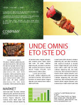 Food U0026amp; Beverage: Barbeque Newsletter Template #01794  Newsletter Templates In Word