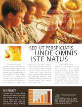 Art & Entertainment: Music School Newsletter Template #01806