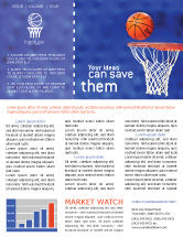 Sports: Basketball Match Newsletter Template #01816