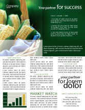 agriculture and animals corn newsletter template 01882 - Newsletter Templates