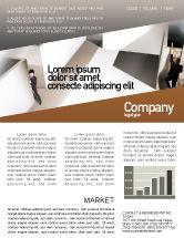 Business Concepts: Office Labyrinth Newsletter Template #01883  Newsletter Templates In Word