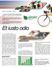Sports: Templat Buletin Gratis Tour De France #01895