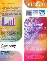 Business Concepts: E-commerce in rosa-blau-gelber palette Newsletter Vorlage #01898