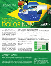 Abstract/Textures: Brazilian Flag Newsletter Template #01915