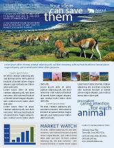 Agriculture and Animals: Pampa Newsletter Template #01950