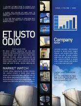 Utilities/Industrial: Plantilla de boletín informativo - depósito de combustible #01958