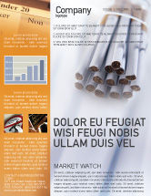 Medical: Cigarettes Newsletter Template #01977