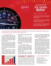 Cars/Transportation: Speedometer Newsletter Template #01985