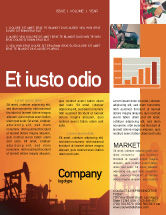 Utilities/Industrial: Oil Well Newsletter Template #02018