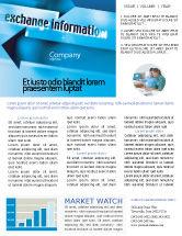 Telecommunication: Information Exchange Newsletter Template #02125