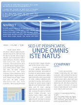 Nature & Environment: Water Purification Newsletter Template #02190
