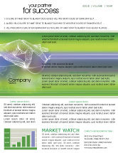 Telecommunication: Technology Newsletter Template #02203