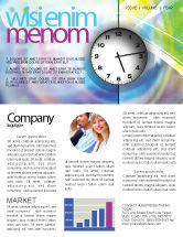 Business: Clock Face Newsletter Template #02210