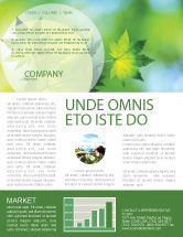 Nature & Environment: Flora Newsletter Template #02215