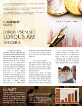 Financial/Accounting: Financial Review Newsletter Template #02260