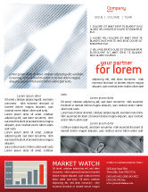 Technology, Science & Computers: Abstract Pointers On Grid Surface Newsletter Template #02264