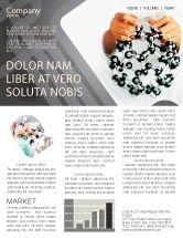 Technology, Science & Computers: Creation Of Fullerene Molecule Model Newsletter Template #02267