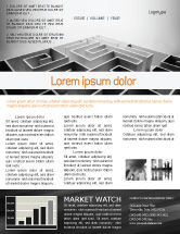 Business Concepts: Gray Labyrinth Newsletter Template #02270