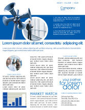 Business Concepts: Loudspeaker Newsletter Template #02285