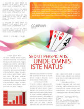 Careers/Industry: Playing Cards Newsletter Template #02295
