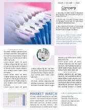 Business: Months Newsletter Template #02297