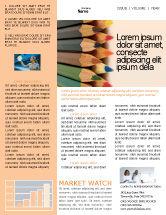 Business Concepts: Color Pencil Newsletter Template #02353