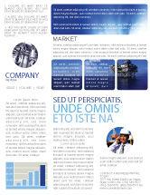 Utilities/Industrial: Plantilla de boletín informativo - plataforma de perforación #02356