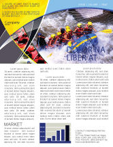 Sports: Rafting Newsletter Template #02380