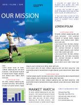 Sports: Archery Newsletter Template #02411