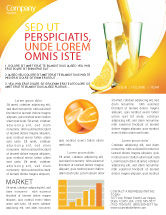 Food & Beverage: Orange Juice Newsletter Template #02416