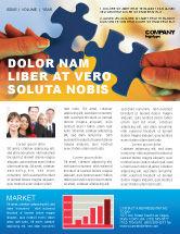 Business Concepts: Modèle de Newsletter de pièces de puzzle #02430