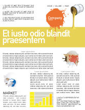 Utilities/Industrial: Yellow Paint Newsletter Template #02440