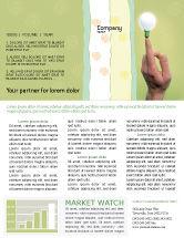 Business Concepts: Lampe am finger Newsletter Vorlage #02453