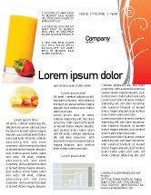 Food & Beverage: Juice Newsletter Template #02489
