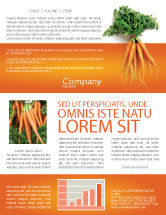 Agriculture and Animals: Carrot Newsletter Template #02511