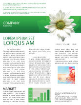 Nature U0026 Environment: Ox Eye Daisy Newsletter Template #02533  Newsletter Templates In Word
