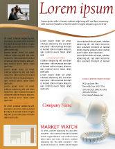 Telecommunication: Helpline Newsletter Template #02551