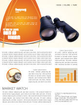Business: Binoculars Newsletter Template #02558
