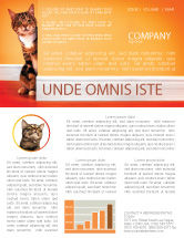 Agriculture and Animals: Curious Cat Newsletter Template #02560