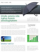 Business Concepts: Umbrella Newsletter Template #02562