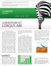 Agriculture and Animals: Zebra Newsletter Template #02564