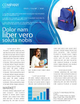 Education & Training: School Backpack Newsletter Template #02577